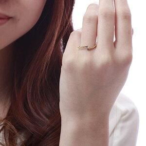 K18YG一粒ダイヤモンドリング