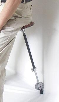 英国LindenLeisure(リンデンレジャー)社のシューティングステッキハンティングステッキチエアーステッキ1本ステッキ本革ちょっとした椅子・ステッキとしてご使用になれるハンディなステッキチェアー(伸縮自在式)1脚
