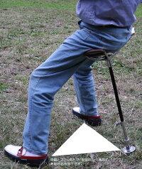 ゴルフ、観戦、黄金世代応援アウトドア英国LindenLeisure(リンデンレジャー)社のシューティングステッキハンティングステッキチエアーステッキ1本ステッキ本革ちょっとした椅子・ステッキとしてご使用になれるハンディなステッキチェアー(伸縮自在式)1脚