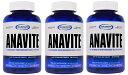 3個セット ガスパリ アナバイト マルチビタミン & ミネラル 180 タブレット - Gaspari Nutrition Anavite 180 tabs - その1