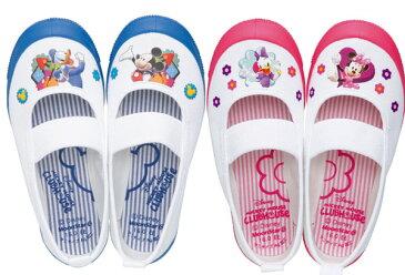 キッズ上履き ミッキー 1足なら定形外メール便(送料400円)も可能 DisneyなかよしDN08 ディズニー バレー ミッキーマウス ムーンスター 日本製 ピンク ブルー キャラクター 上靴 14cm 15cm 16cm 17cm 18cm