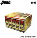 PENN チャンピオンシップ テニスボール 60球(3球×20缶) 硬式テニス ボール レギュラーデューティフェル...