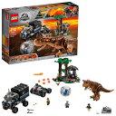 LEGO レゴ ジュラシックワールド カルノタウルス対ジャイ...
