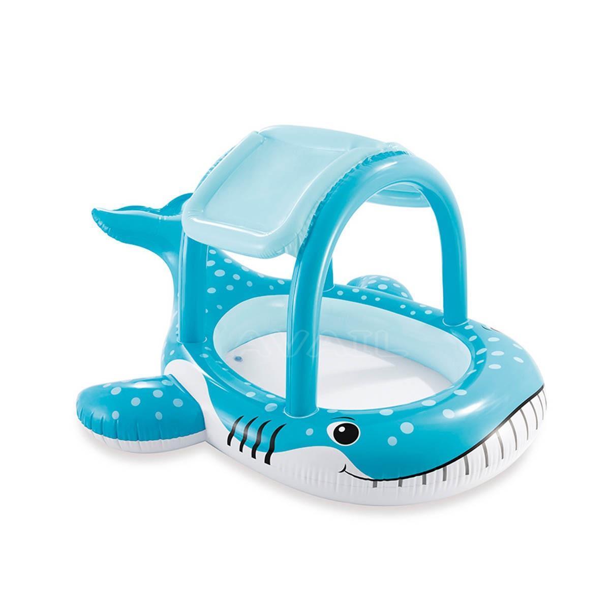 インテックス クジラプール 2歳以上 屋根付き INTEX ビニールプール プール ホエールシェードプール くじらプール キッズプール ファミリープール 子供用プール レジャープール 家庭用プール ベビープール 夏 水遊び キッズ用 ベビー用
