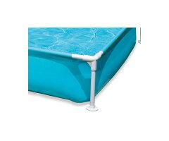 INTEXミニフレームプール青子供用プールビニールプール子供プールキッズプール家庭用プールファミリープールレジャープールインテックスMINIFramePool正方形ベランダ水遊び野外屋外キッズ子供ペットプール1.2m122cm