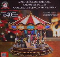 ミスタークリスマス デラックスメリーゴーランド オルゴール クリスマスソング20曲 通常ソング20曲 クリスマス サンタクロース ツリー イルミネーション 回転木馬