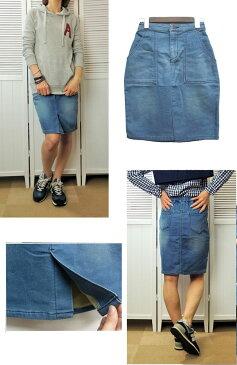 【SALE】ストレッチカットデニムタイトスカート!スカート スウェット カットデニム タイト デニム ボトムス ブルー ストレッチ