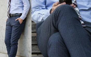 スラックススリム美脚効果抜群!【工房直送(岡山)職人仕上げ】∞KAKEYAJEANS∞-madeinjapan-次世代の足長美脚ビジネススラックスパンツ【メンズ】【スリム】