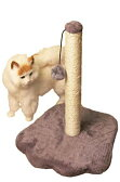 (SCGEHA) 猫 つめとぎ 爪とぎ ネコ ツメとぎ ポール型 キャットタワー ボール付き 麻 2カラー (ブラウン・足型)