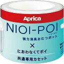 Aprica (アップリカ) 強力消臭紙おむつ処理ポット ニオイポイ NIOI-POI におわなくてポイ共通カセット 3個カセット 強力消臭成分でニオイをシャットアウト 防臭・抗菌も! 2022671