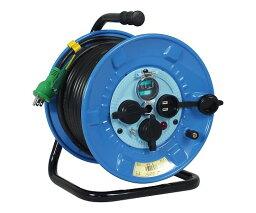 日動工業 電工ドラム(屋外型・防雨・防塵型・漏電保護専用ブレーカー付) NPW-EB23