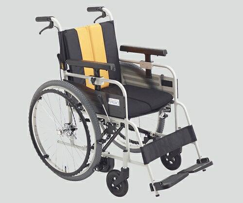 ノンバックブレーキ車椅子(アルミ製) MBY−47B イエロー 標準:Shop de clinic
