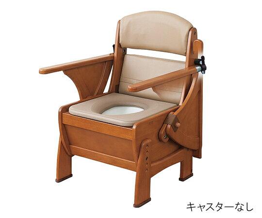 ナーセントポータブルトイレ(木製ピボット型) キャスターなし:Shop de clinic