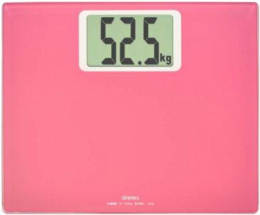 【送料無料】DRETEC (ドリテック) 大画面体重計 ボディ スケール グランデ ピンク BS-163PK【02P06Aug16】