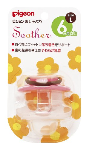 Pigeon P pacifiers 6 month or more/large flower.