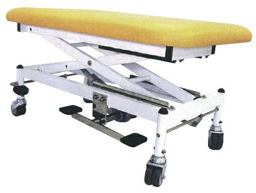 マニュアルテーブル   R-286-D ブラウン サイズ:W650×L1000×H550?1000mm