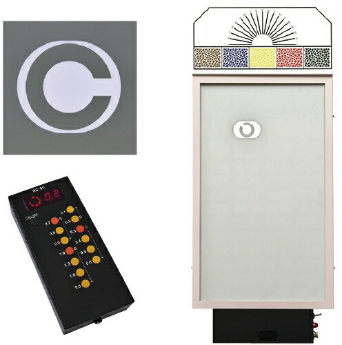 LED式視力検査器(壁掛式)   RC-90B-3  規格:3m・斜め入り8方向