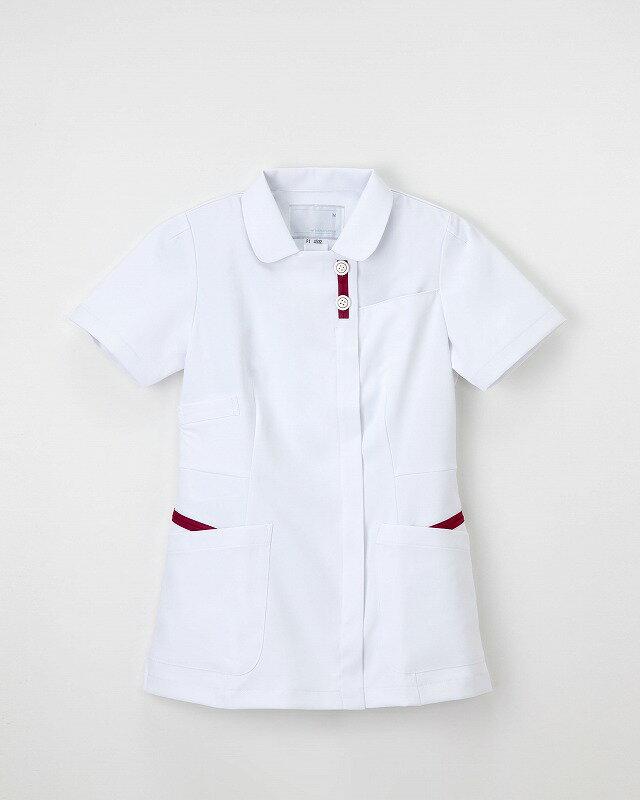 【ナガイレーベン】 女子上衣  FT-4532 サイズ:MTバーガンディ 【ナース服 白衣】