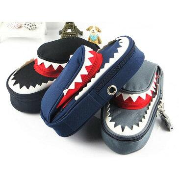 ビックリ! サメ モチーフ 鍵付き 大容量 シャーク ペンケース 3カラー