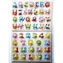 子供 知育玩具 木製 パズル 2点セット 赤ちゃん キッズ おもちゃ (アルファベット & 数字)