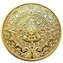 マヤ文明 アステカカレンダー コイン 40mm 記念コイン コレクション ゴールド