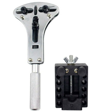 時計工具 電池交換 3点支持 裏蓋オープナー 固定用台座 セット