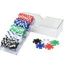 ポーカーチップセット ゲーム用 チップセット プロ仕様 カジノゲーム ルーレット バカラ 本格的 重量感 ポーカーチップ カジノチップ 5色 100枚セット チップ セット 麻雀 マージャン