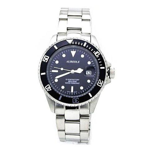 オレオールスポーツ メンズ腕時計 20気圧防水機構 10年電池 AUREOLE SW-461M-1 ギフト プレゼント