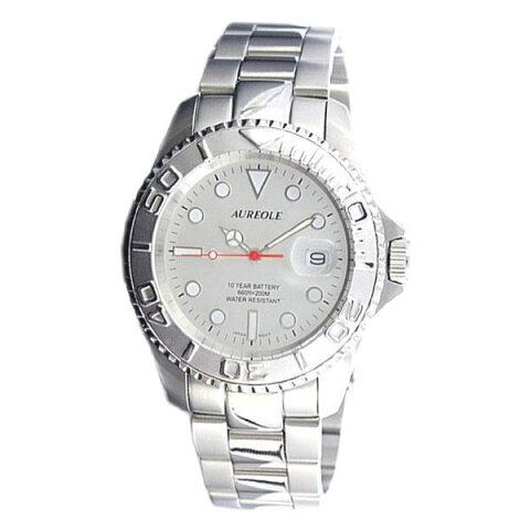 オレオールスポーツ メンズ腕時計 20気圧防水機構 10年電池 AUREOLE SW-461M-6 ギフト プレゼント
