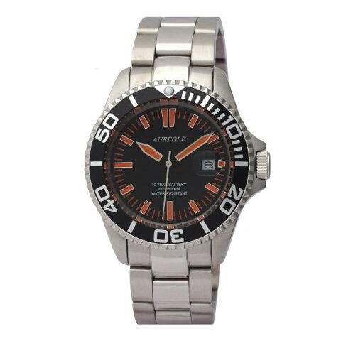オレオールスポーツ メンズ腕時計 20気圧防水機構 10年電池 AUREOLE SW-461M-A1 ギフト プレゼント