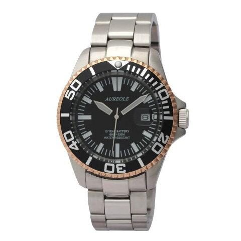 オレオールスポーツ メンズ腕時計 20気圧防水機構 10年電池 AUREOLE SW-461M-A2 ギフト プレゼント