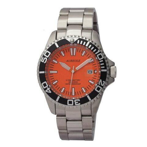 オレオールスポーツ メンズ腕時計 20気圧防水機構 10年電池 AUREOLE SW-461M-A3 ギフト プレゼント