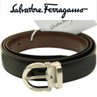 ����Хȡ���ե��饬��salvatoreferragamo��󥺥٥�ȥ�С����֥�1043-03-NEORAUBURN218994�֥�å�/�֥饦��110cm�������¹�͢����