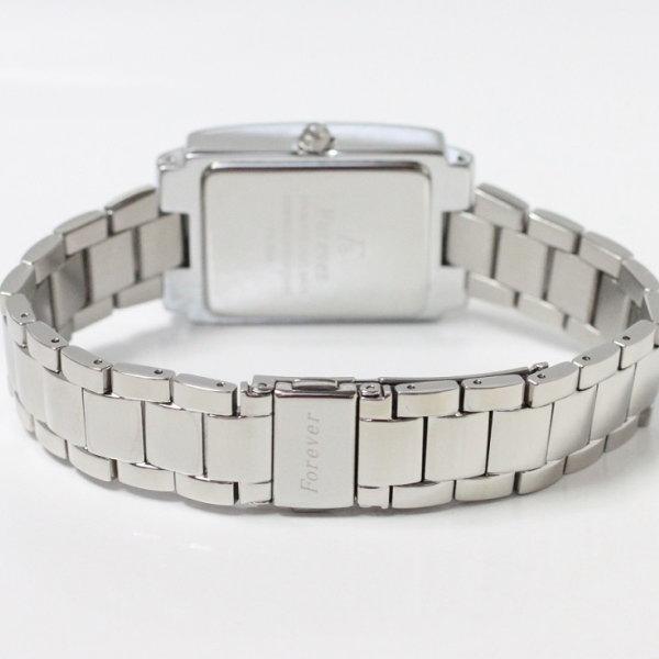 フォーエバー メンズ腕時計 スクエアー型 ブラックシェル文字盤 アラビアインデックス FG-2300 ペア時計 贈答品
