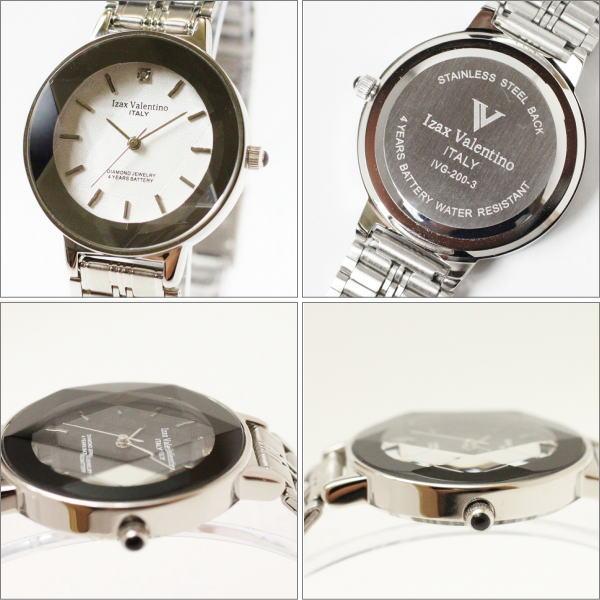 特選品♪アイザック・バレンチノ Izax Valentino レディス腕時計 シルバーフェイス IVL200-2