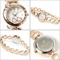 フォーエバーForeverレディス腕時計スイングチャームホワイトシェル文字盤ピンクゴールドカラーFL1207-1PG