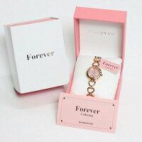 フォーエバーForeverレディス腕時計スイングチャームピンクシェル文字盤ピンクゴールドカラーFL1207-2PG