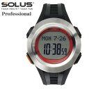 タッチ式心拍計測 腕時計 ランニングウオッチ ソーラス SOLUS メンズ腕時計 PR 101-02 シルバーブラック ギフト プレゼント
