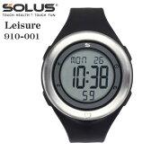 タッチ式心拍計測 腕時計 ランニングウオッチ ソーラス SOLUS メンズ腕時計 Leisure 910-001 ブラック ギフト プレゼント