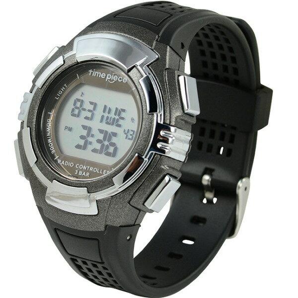 電波ソーラー(デュアルパワー) デジタル時計 タイムピース Time Piece TWP-002GM