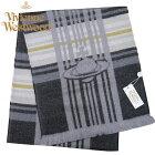 ヴィヴィアン・ウエストウッドマフラーVivienneWestwoodコレクションウール100%BLACK系M9060-C60-60