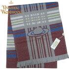 ヴィヴィアン・ウエストウッドマフラーVivienneWestwoodコレクションウール100%BORDEAUX系M9060-C60-101