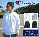 チャンピオン CHAMPION 長袖 Tシャツ メンズ 1枚までメール便対応 US ロンt 袖ロゴ ワッペン ワンポイント 無地 USAモデル 長袖T チャンピオン 長袖 Authentic ロングスリーブ