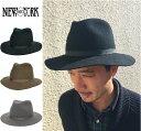 セール 送料無料 つば広 フェルトハット ニューヨークハット 5305 HOMESTEAD 中折れハット つば広ハット メンズ レディース NY 5305 HOMESTEAD フェルト ホームステッド 中折れ ハット 帽子 NEW YORK HAT ロングブリム 切りっぱなしブリム ウール ワイドブリム