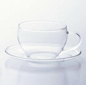 ティーカップ&ソーサー teacup グラス コップ コーヒー 紅茶 ハーブティー 耐熱 ガラス食器 石塚硝子 アデリア 誕生日プレゼント
