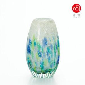 長丸花器(紫陽花)