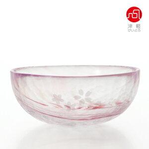 桜流し小鉢【桜/サクラ/さくら柄/ガラス食器/津軽びいどろ/石塚硝子/アデリア】