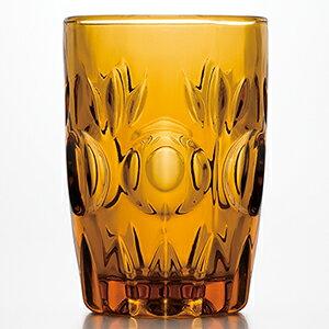 Cup Scandinavian retro glass fashionable [a60 look cola glass amber 6 pieces set] Design pattern Retro Cup Retro Showa Mid Century 1970s Cafe Retro Pop 70s Antique Vintage Adelia Ishizuka Glass