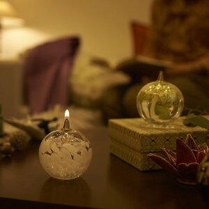 津軽びいどろオイルランプ【クリスマス/ギフト/ガラス/石塚硝子/アデリア】