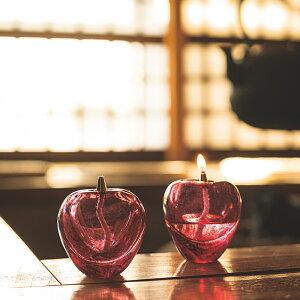 津軽びいどろオイルランプ【クリスマス/プレゼント/贈り物/ガラス/石塚硝子/アデリア】